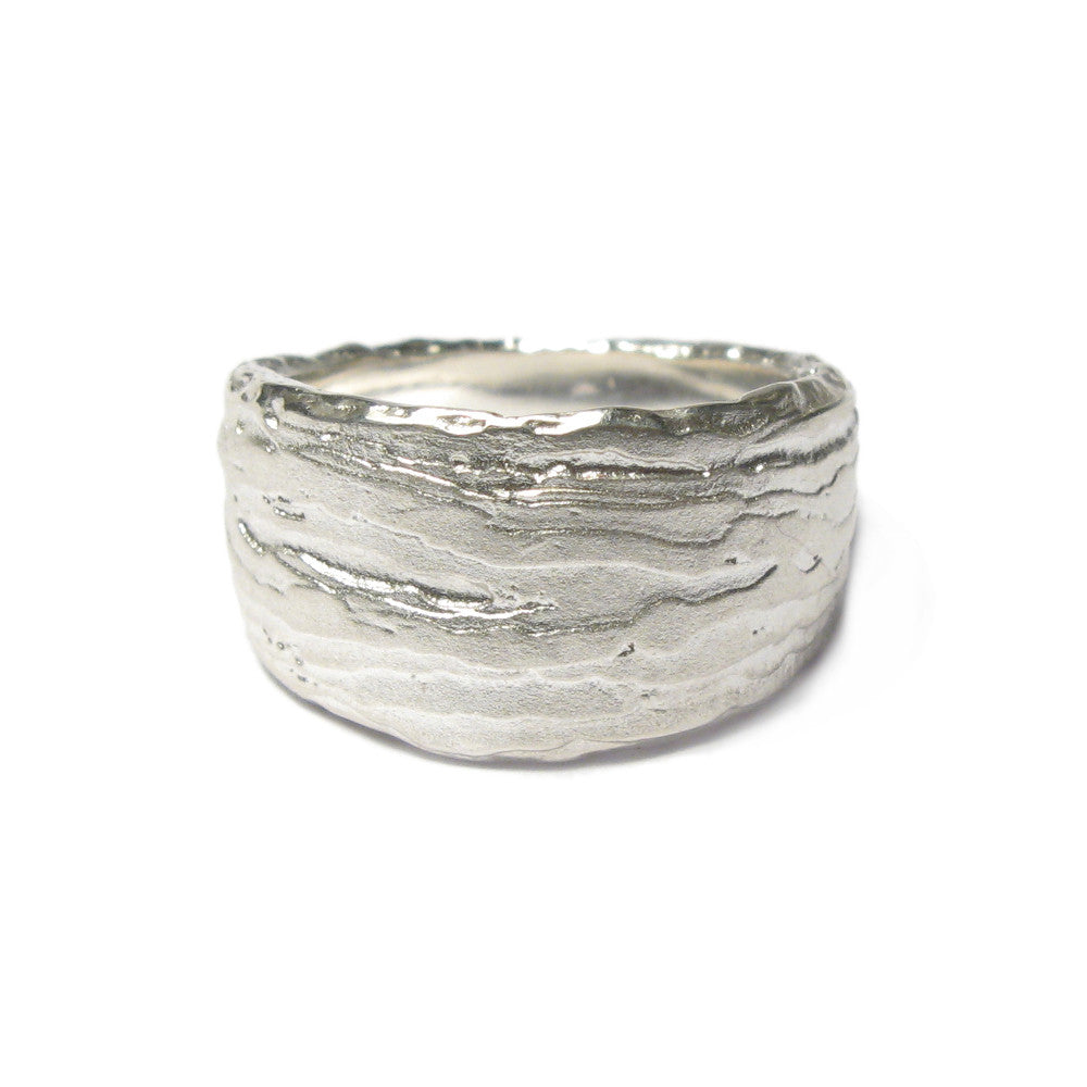 Diana Porter Jewellery contemporary etched silver ring