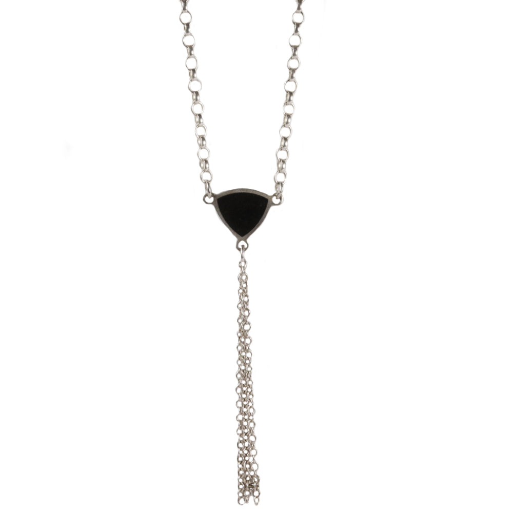 Jane Moore Onyx and Silver Necklace