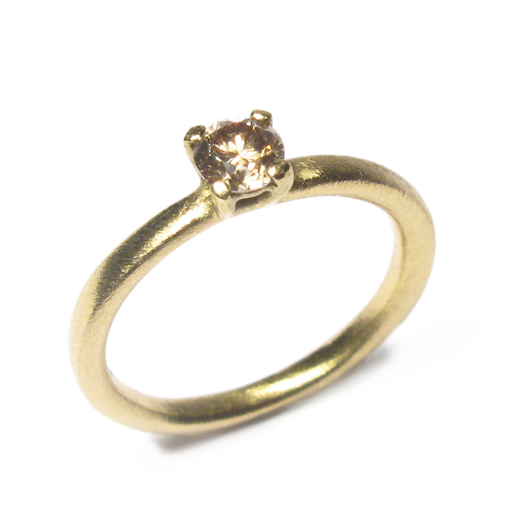 Diana Porter Jewellery contemporary chocolate diamond and yellow gold engagement ring
