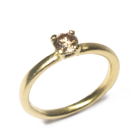 18ct Yellow Gold Ring with Claw Set 0.25ct Brown Diamond