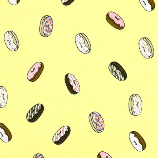 Coffee Lovers Beans Cotton Fabric Donuts Clothworks BY the Yard