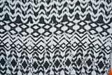 Ethnic Stripe Rayon Challis Fabric Apparel Rugged Chevron By the Yard