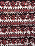 Ethnic Stripe  Knit Fabric Sweater Poly Lycra  By the Yard