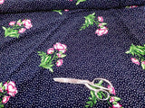 Bubble Crepe Floral  Crepe  Apparel Fabric Polka Dot  By the Yard
