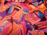Abstract  Floral  Crepe  Apparel Fabric Bold  By the Yard
