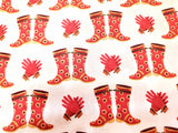 Gazebo Garden Cotton Fabric Boots and Gloves Windham By the Yard