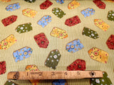 Gazebo Garden Cotton Fabric Tags Flower Windham By the Yard