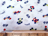 Race Car Poly Cotton Knit Fabric Children Print By the Yard