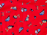 Construction Vehicles Rib Knit Cotton Lycra Fabric BY the Yard
