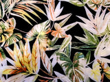 Tropical Palm Floral  Crepe  Apparel Fabric By the Yard
