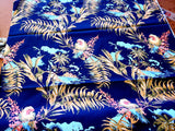 Parrot & Tropical  Floral  Cotton Shirting Fabric Sateen By the Yard