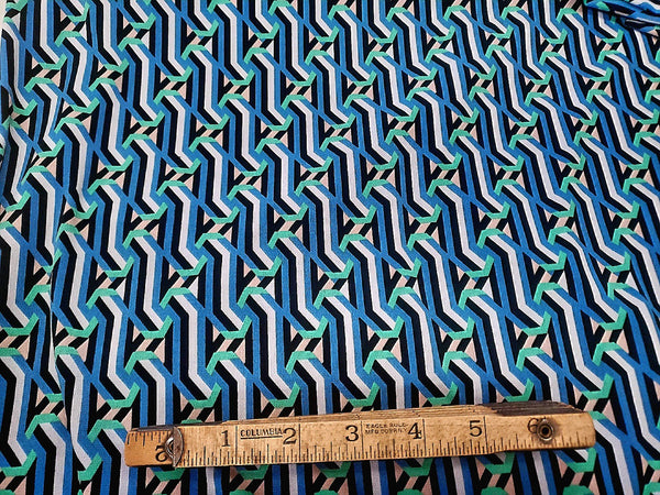 Ogee Abstract Lycra Jersey Knit Fabric ITY Geometric  BY the Yard