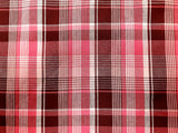 Rose Plaid Cotton Shirting Fabric Sportswear Weight  By the Yard