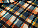 Bias Plaid Knit Fabric Sweater Poly Lycra HK -06  By the Yard