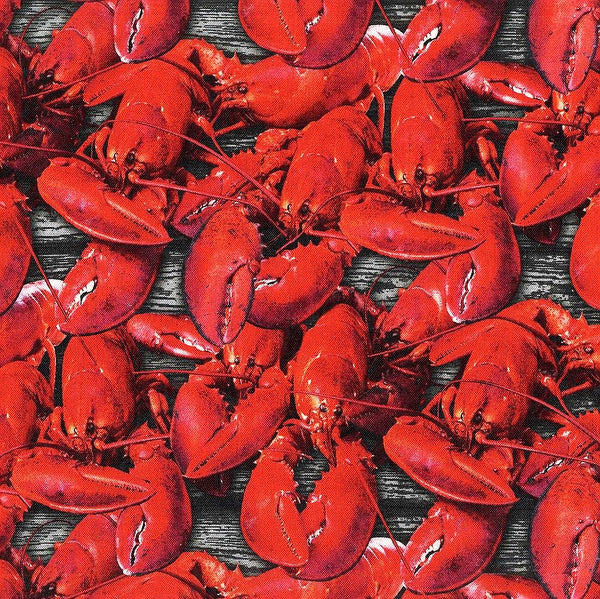 A La Carte Cotton Shello Lobster Fabric Windham By the Yard
