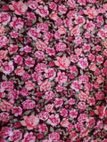 Rose Floral Sweater Knit Fabric Burgundy By the Yard