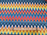 Double Brushed Jersey Fabric Funky Chevron By the Yard