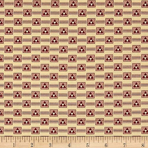 Devon County Cotton Reproduction Diamond Blocks  Fabric Karen Styles By the Yard