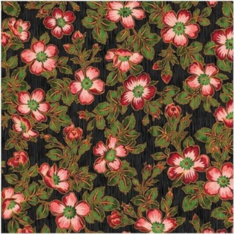 Claridge Small Floral Cotton Fabric Yuko Hasegawa RJR