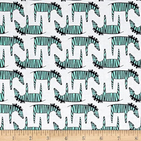 Zig Zag Zebra Cotton Fabric Michael Miller Trekking By the Yard By the Yard