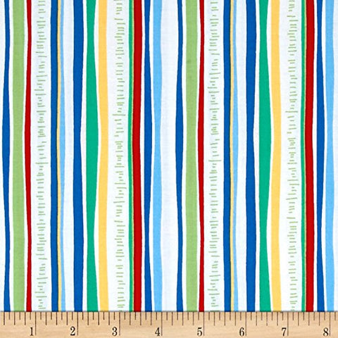 Happy Hoedown Mowed Down Stripe   Cotton Fabric Michael Miller By the Yard