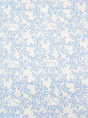 Linen Cotton Floral  Cotton Shirting Fabric Blue By the Yard