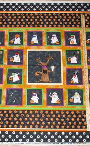 Boooo Ville Trick or Treat  Cotton Halloween Fabric Benartex BY the Yard