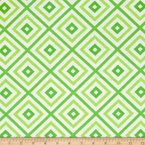 Hubba Hubba Diamond Block Green  Moda Urban Chic By the Yard