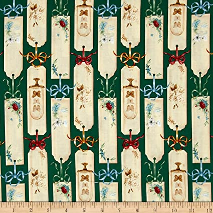 Bookshop Bookmarks Cotton Fabric Floral Blank Quilting  By the Yard