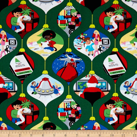 Ghosts of Christmas Future Cotton Fabric Michael Miller By the Yard