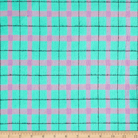 Primo Cotton Flannel Fabric Color Crush Aqua Yarn Dyed Marcus  By the Yard