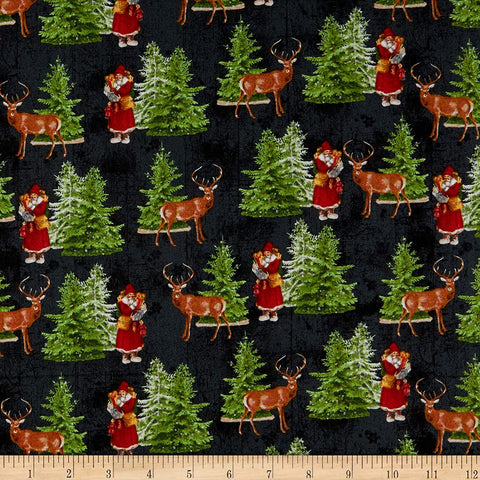 Comfort and Joy Santa  Christmas Fabric Windham Whistler Studios By the Yard