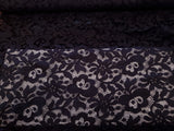 Dark Gray Scalloped Lace Fabric Special Occasion  By the Yard
