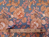 Double Brushed Jersey Knit  Fabric Purple  Apparel Bronze Floral  BY the Yard