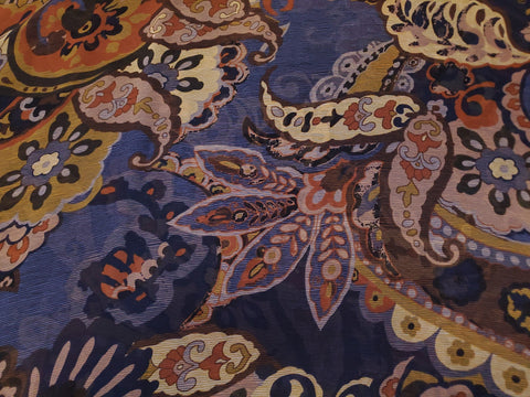 Paisley & Floral Jacobean  Chiffon Apparel Fabric By the Yard