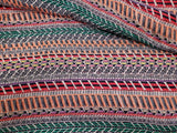 Ethnic Stripe  Knit Fabric SweaterLoose   By the Yard