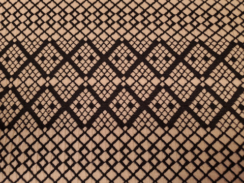 Geometric Pucker  Double Knit Fabric Poly Lycra By the Yard