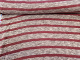 Sweater Knit Fabric Heather Stripe Traditional Look  By the Yard