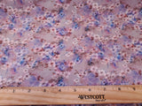 Small Floral  Cotton Shirting Fabric Purple Poplin  By the Yard