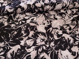 Brushstroke Floral Crepe de Chine Blouse Weight  Apparel Fabric  By the Yard