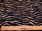 Tiger Animal Print Crepe Blouse Weight  Apparel Fabric  By the Yard