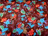 Flower Garden Cotton Floral Fabric Brown The Gallery By the Yard