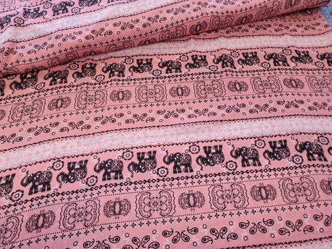 Elephant Stripe  Crepe  Apparel Fabric Bold  By the Yard
