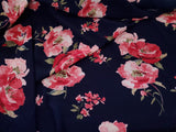 Rose  Bubble Crepe Floral  Crepe  Apparel Fabric Polka Dot  By the Yard