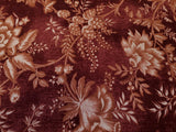 St. Louis Cotton Fabric Main Floral Wine Washington Street By the Yard