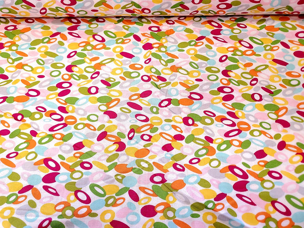 Abstract Bubble Cotton Fabric Waverly Imprrssions By the Yard
