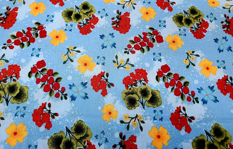 Garden Frolic Cotton Fabric Geranium RJR