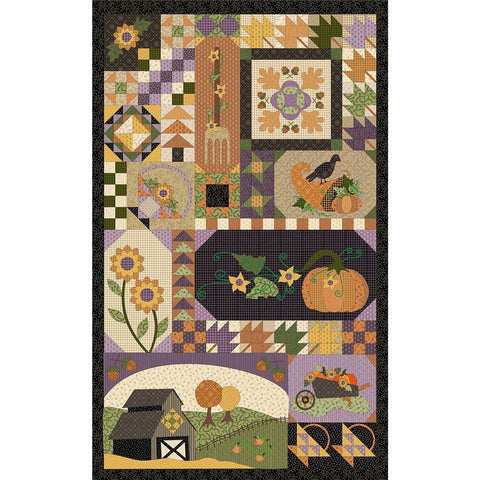Patches of Autumn Cotton Panel Marcus Brothers Vicky McCarty 23 by 44 Inch Panel