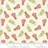 Brushed Cotton Mighty Machines Cotton Flannel Fabric Moda By the Yard