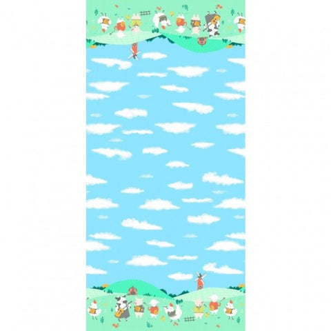 Happy Hoedown Spring Double Border Print Cotton Fabric Michael Miller By the Yard